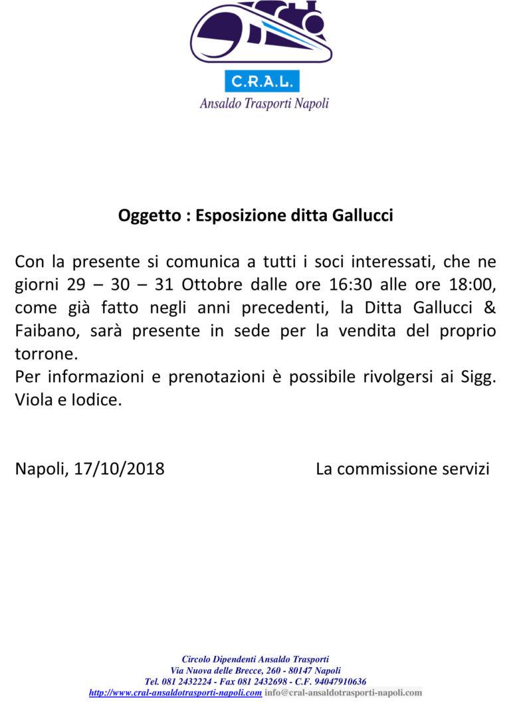 Esposizione ditta Gallucci