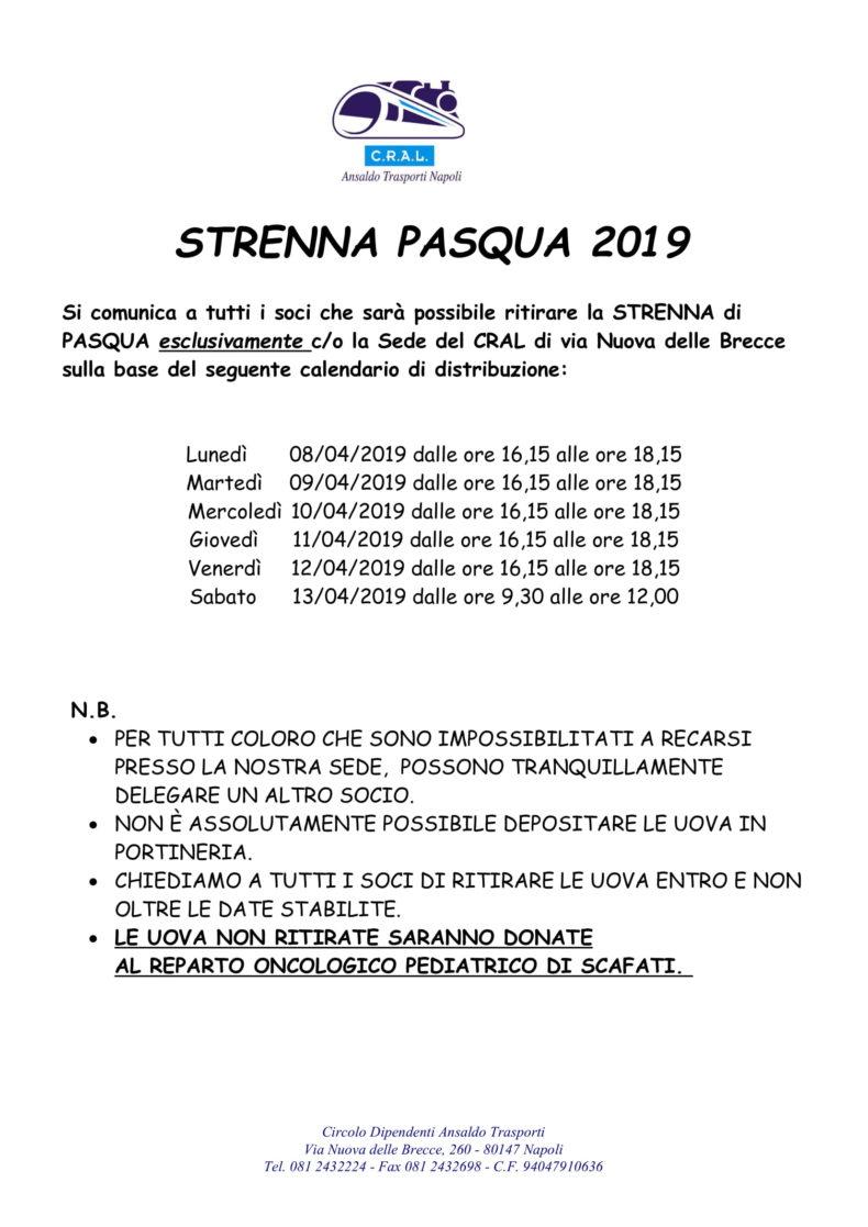 Strenna Pasqua 2019